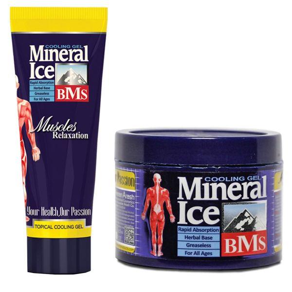 پک تیوپی و کاسه ای ژل ضد درد مینرال مدل ICE مجموعه 2 عددی