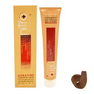 رنگ مو نیترو سری Keratine شماره رنگ بلوند تنباکویی متوسط 7.65