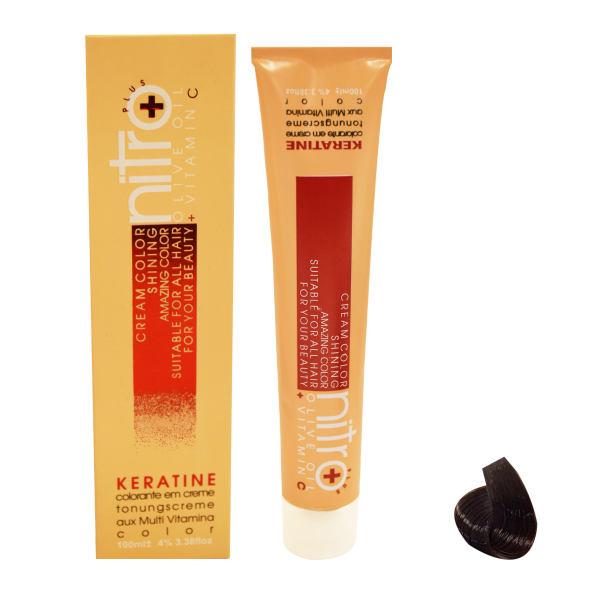 رنگ مو نیترو سری Keratine شماره 3.65